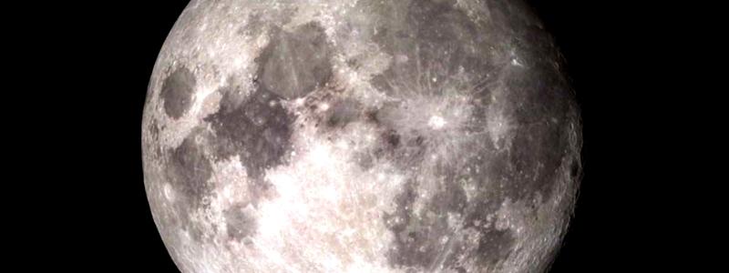 Water molecules on moon